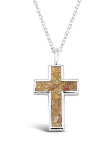 Dune Shell & Sand Cross Necklace