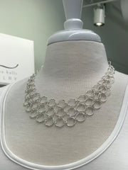 Elise Circle Chain Necklace in Silver