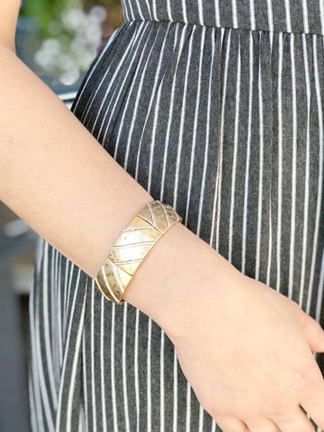 Aubree Gold Stretch Bracelet with Silver Accents