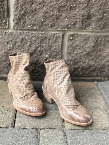 Sancia Light Taupe Booties