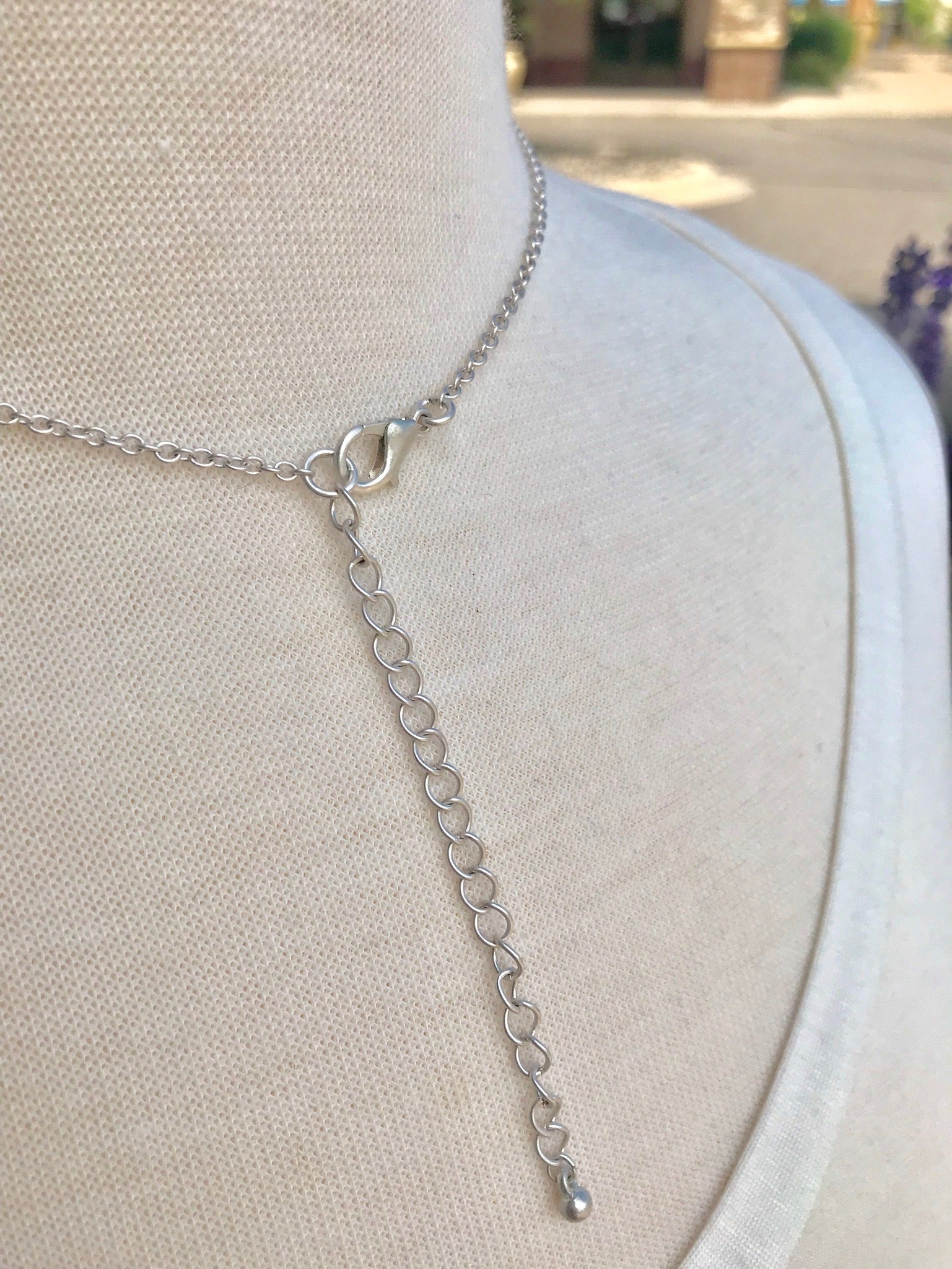 Long Silver Evelyn Necklace