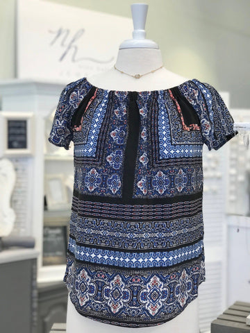 Jane Patterned Top