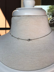 Julia Silver Sparkly Circle Necklace