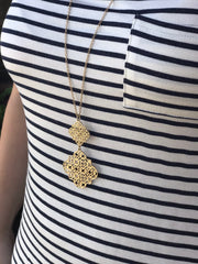 Evelyn Long Necklace in Gold