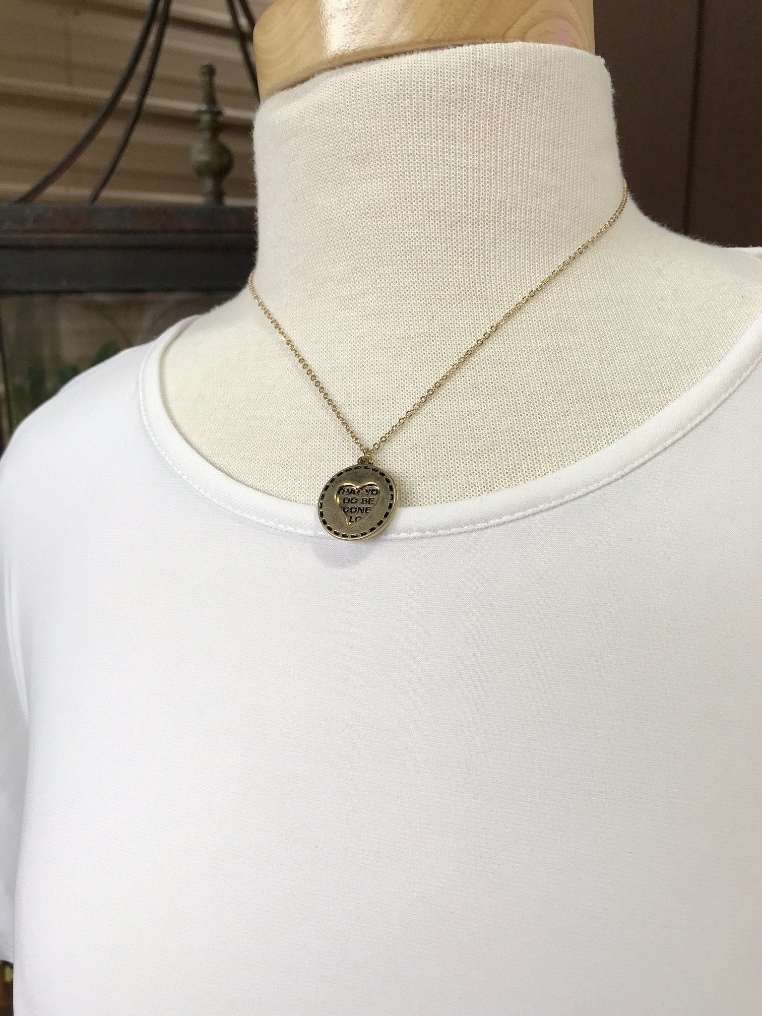 Eliza Short Gold Heart Necklace
