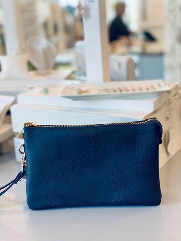 Ada Clutch-Navy Blue