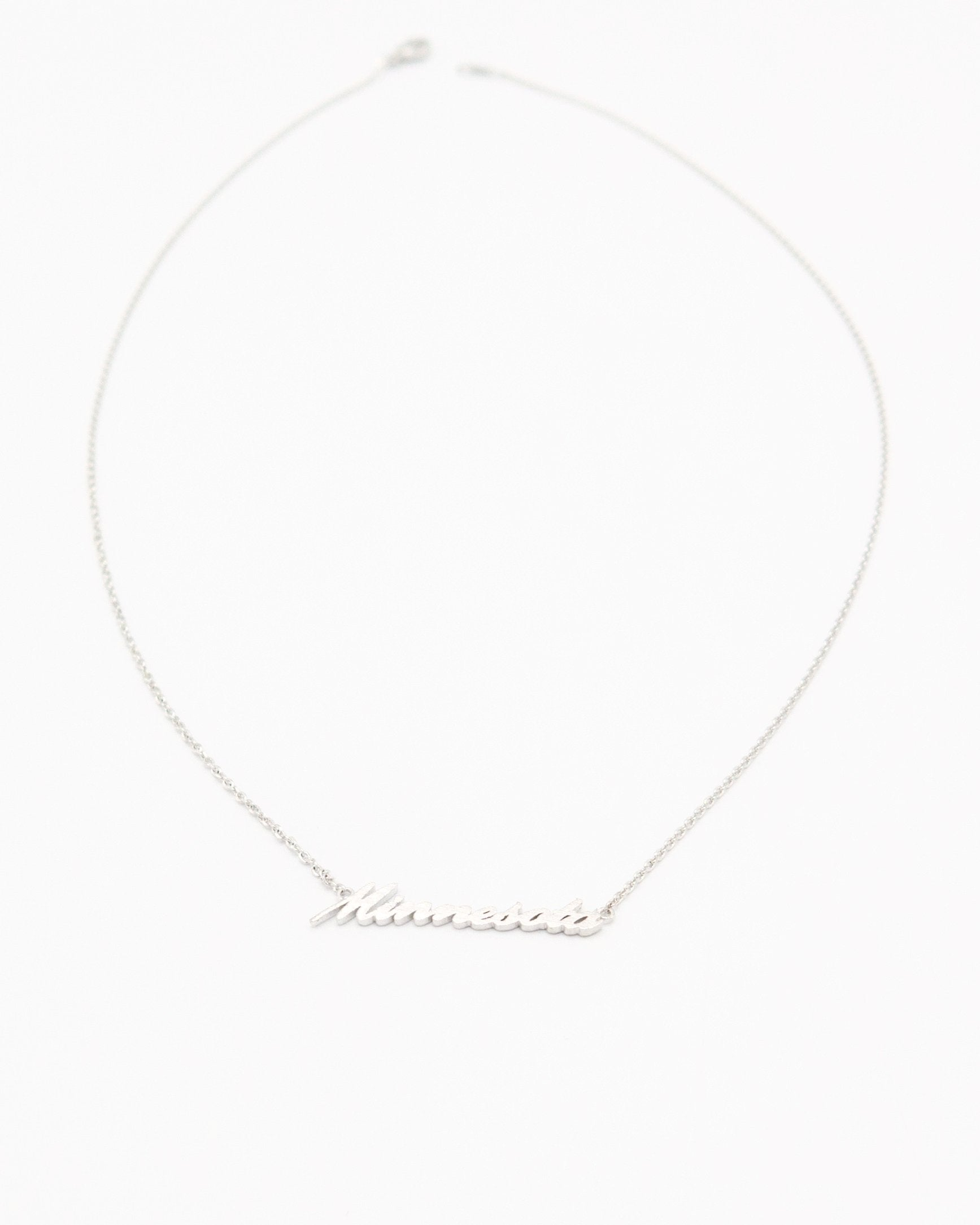 Minnesota Word Necklace in silver