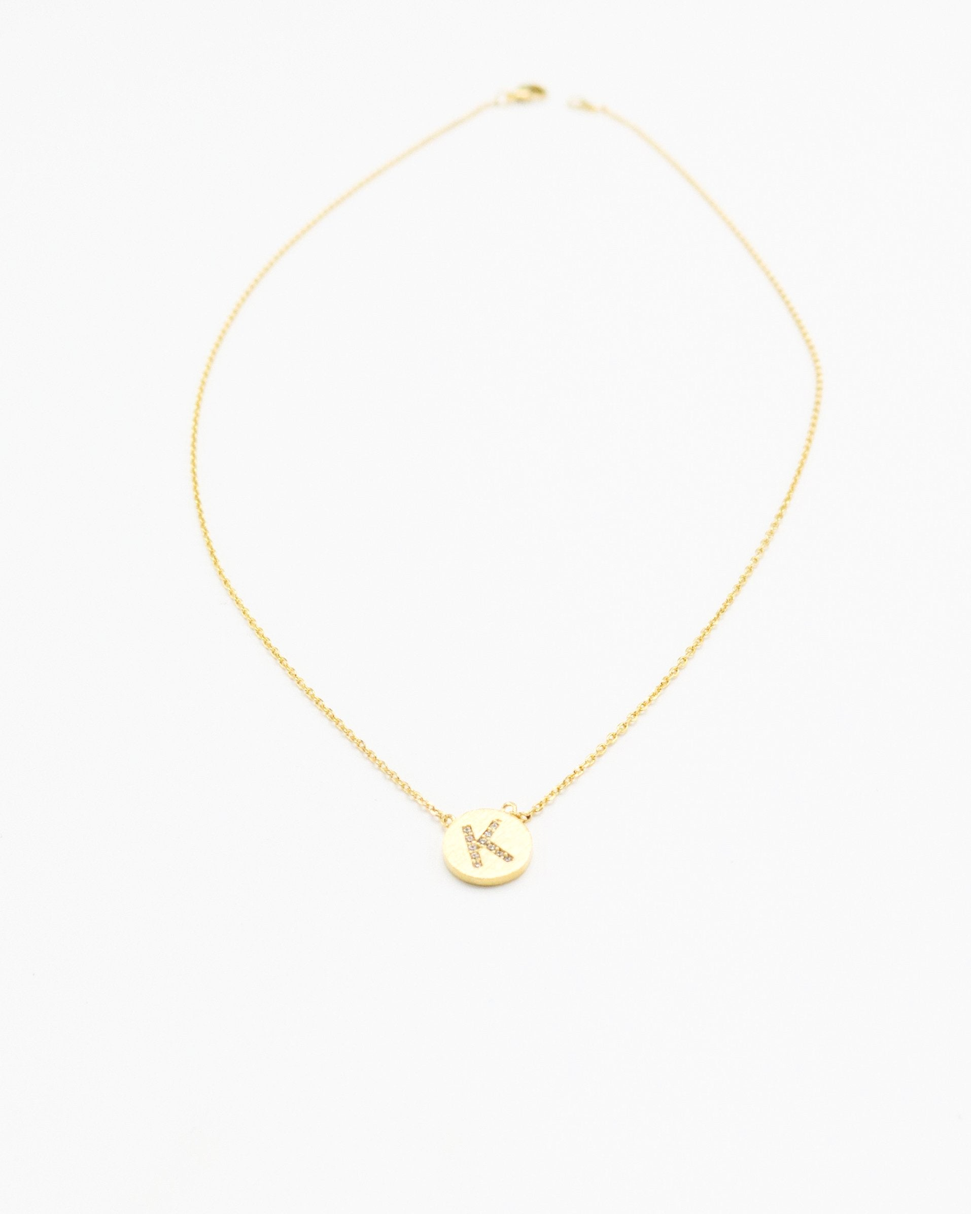 Initial Necklace in gold