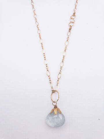 Malta NH necklace with Aquamarine Pendant