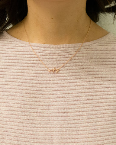 "Wifey Word Necklace 18"" in length"