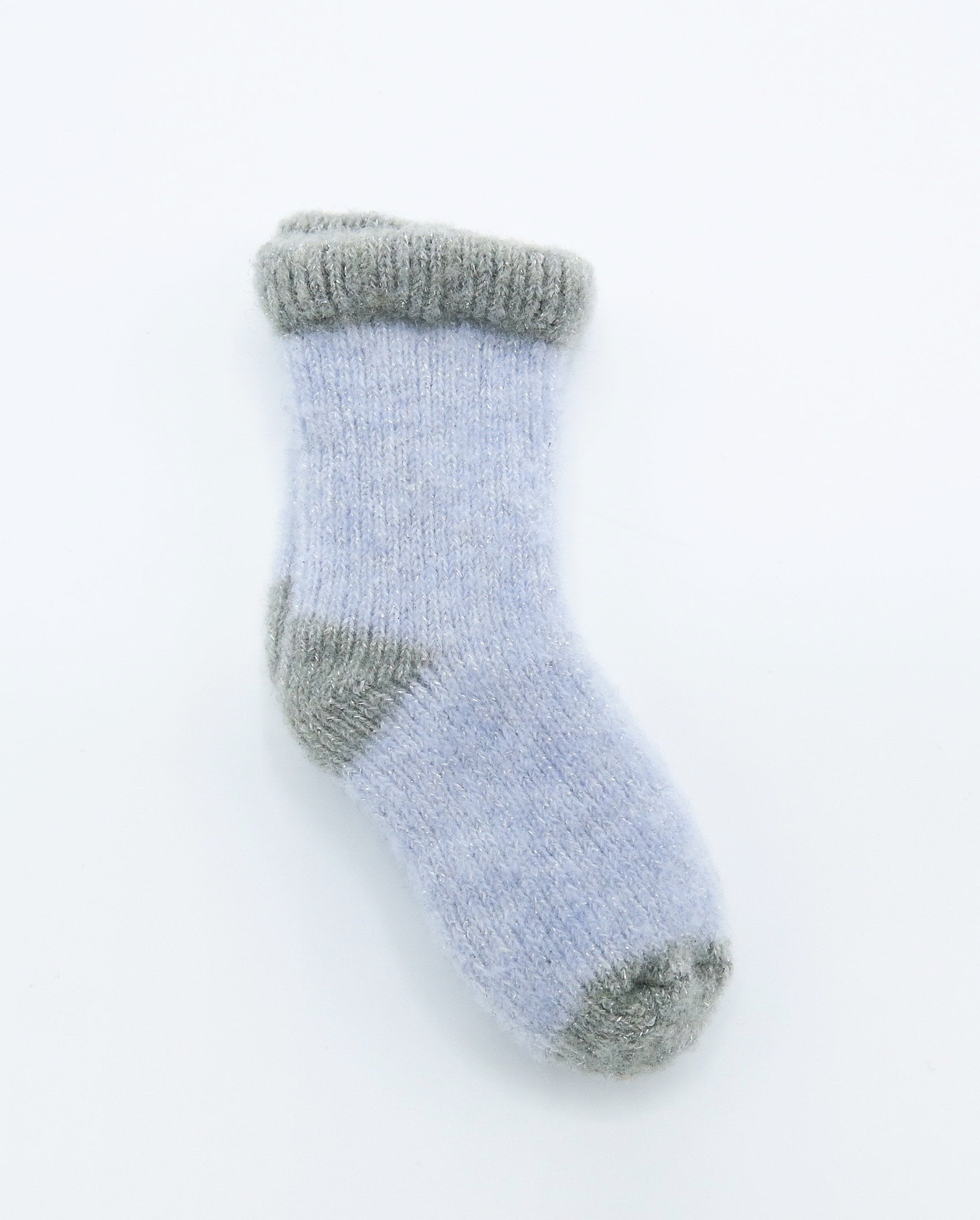 Baby Girl Blue and Grey Cashmere Blend Socks
