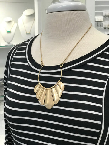 Charlotte Statement Necklace in Gold