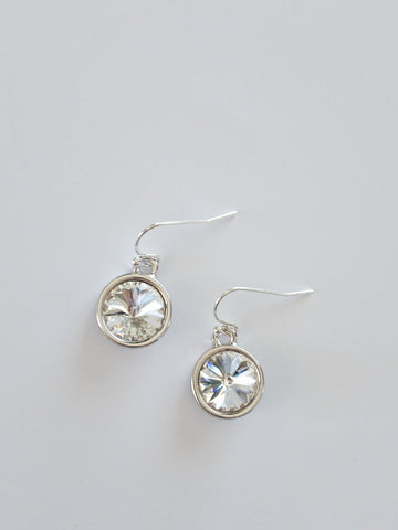 Bella Swarovski Earrings in Clear