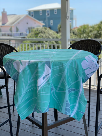 Beach towel shown as a table cloth
