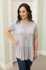 Grey Top with Baby Doll Bottom. Clearance.