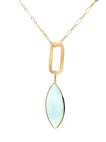 Peruvian Chalcedony designer necklace.