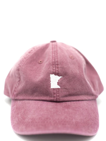 Burgundy Embroidered MN Hat