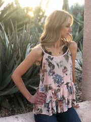 Tucson Floral Top - Peach