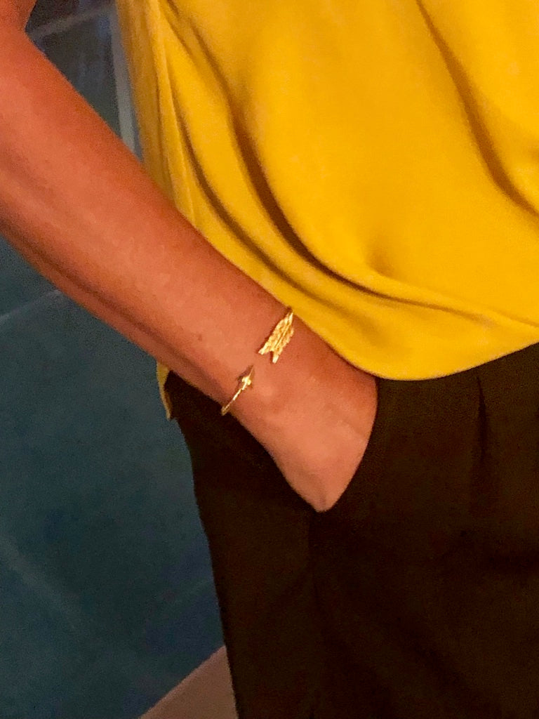 Delilah Gold Rope Bracelet with an Arrow