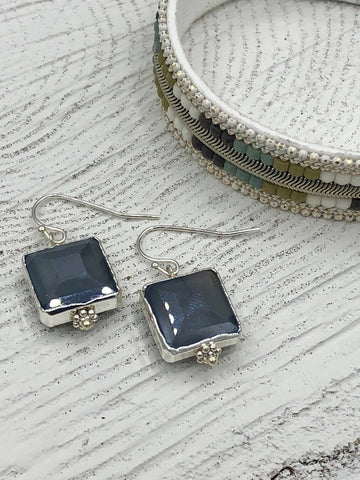 Nickle Free Megan Earrings - Gray