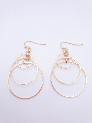 Halle Gold Dangly Earrings