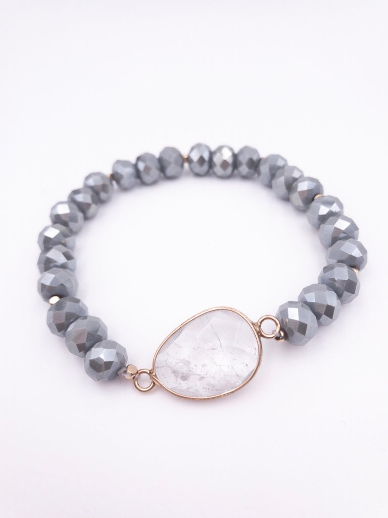 Tula Beaded Bracelet - Grey