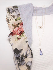 Dubai NH Necklace with Blueberry Quarty Pendant
