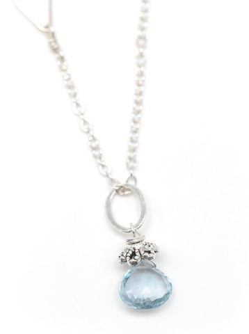Nisswa NH necklace with Aquamarine Pendant