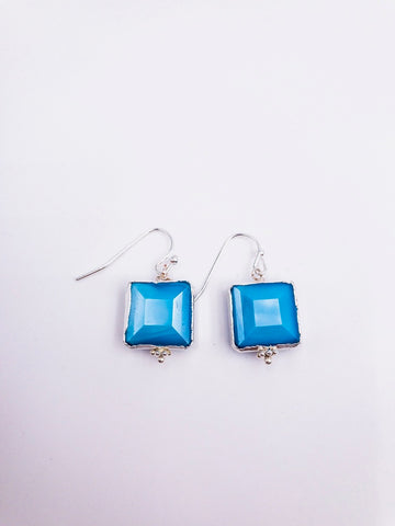 Megan Short Earrings - Tropical Teal