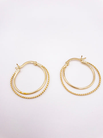 Bev Hoop Earrings
