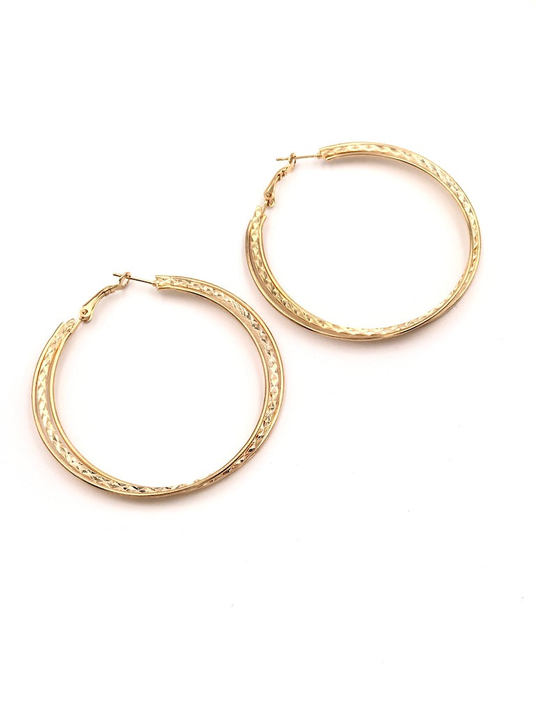 Alicia Gold Hoop Earrings