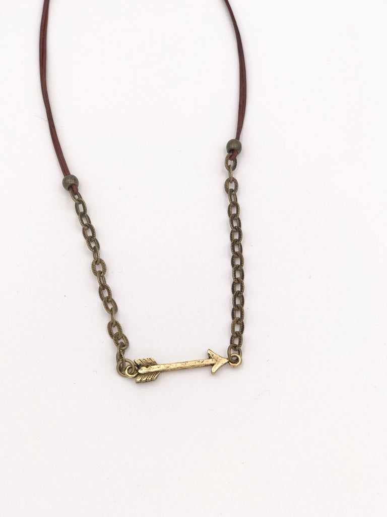 Handmade Inspired Design Arrow Necklace
