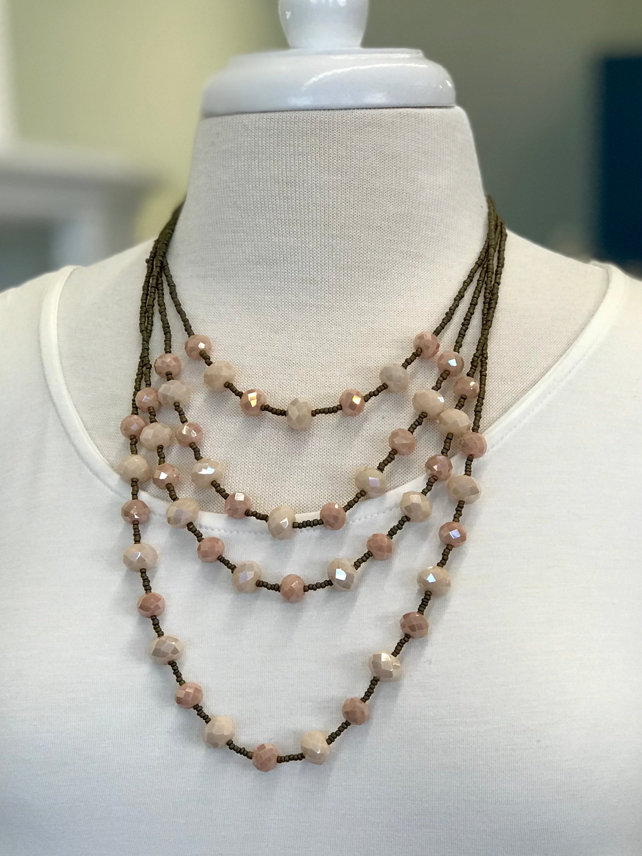 Mariah Multi Layer Beaded Necklace