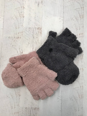 Chalk Foam Flip Mittens. CLEARANCE. FINAL SALE.