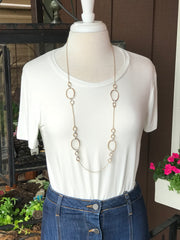 Britney Long Mixed Metal Necklace