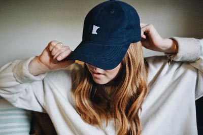 Navy Embroidered MN Hat