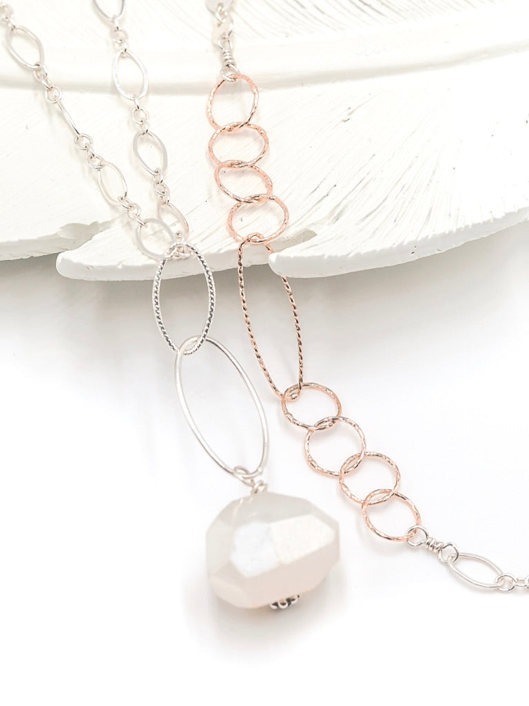 Bali NH Necklace with Pearl Chalcedony Pendant