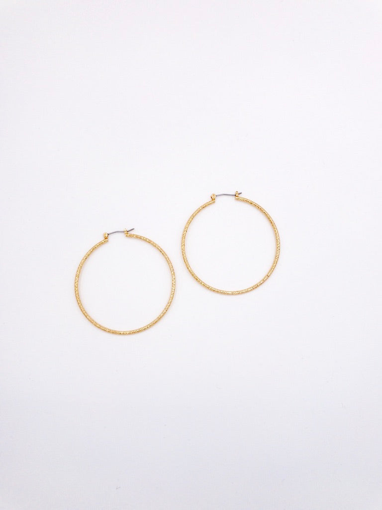 Angie Hoop Earrings in Gold