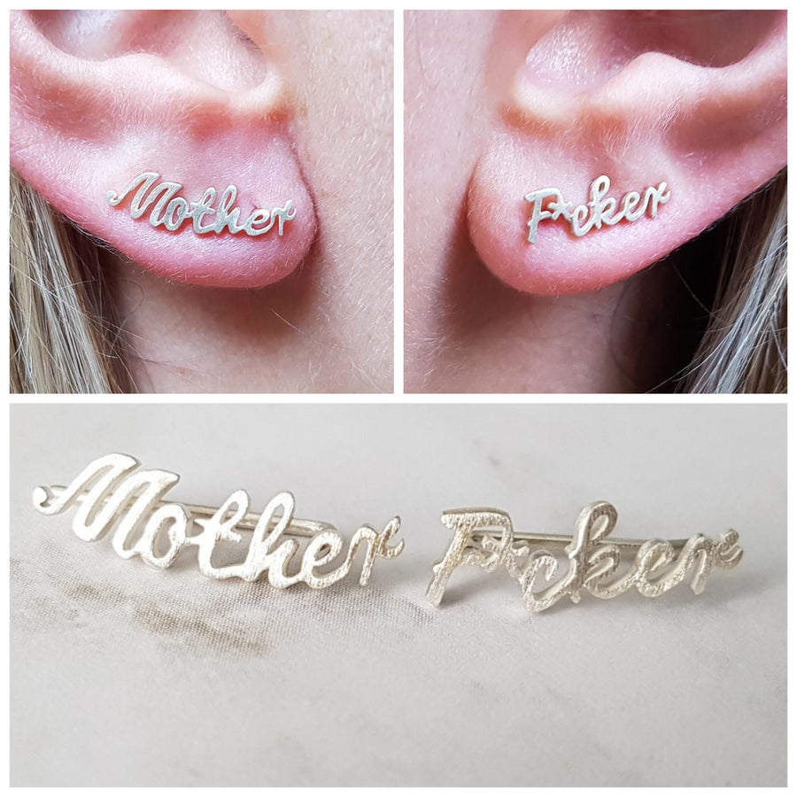 "The ""Mother F*cker"" Ear Crawler Set"