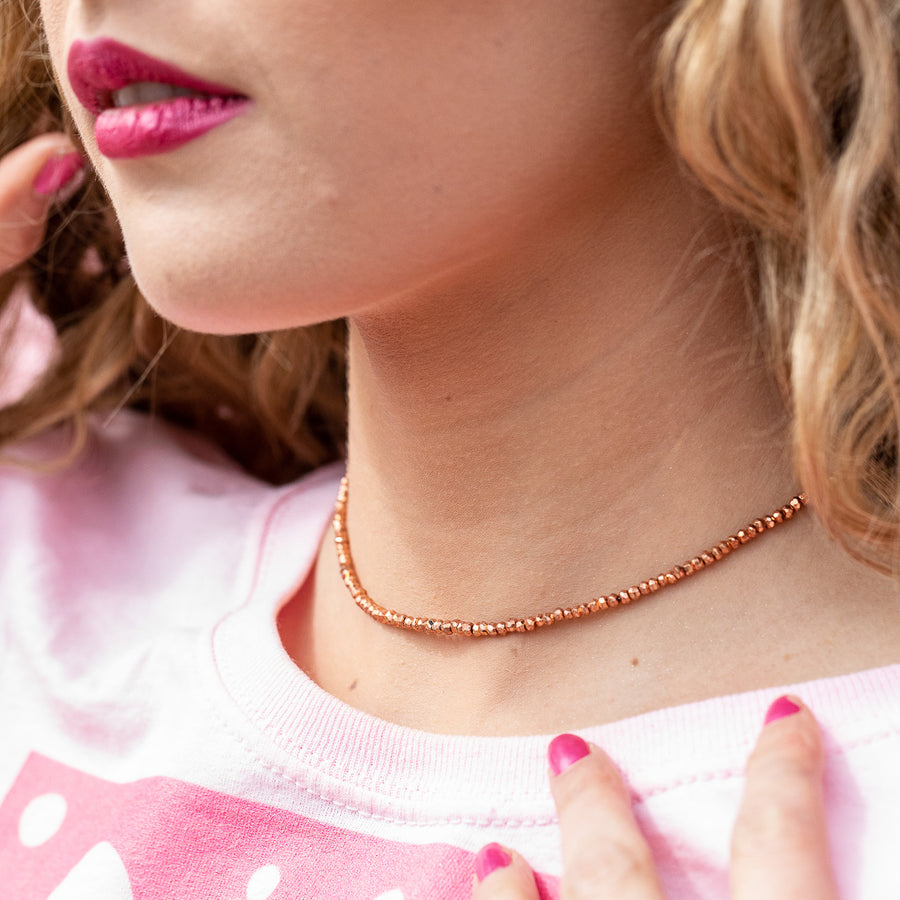 "The ""That's A Wrap"" Pink Gemstone Necklace"