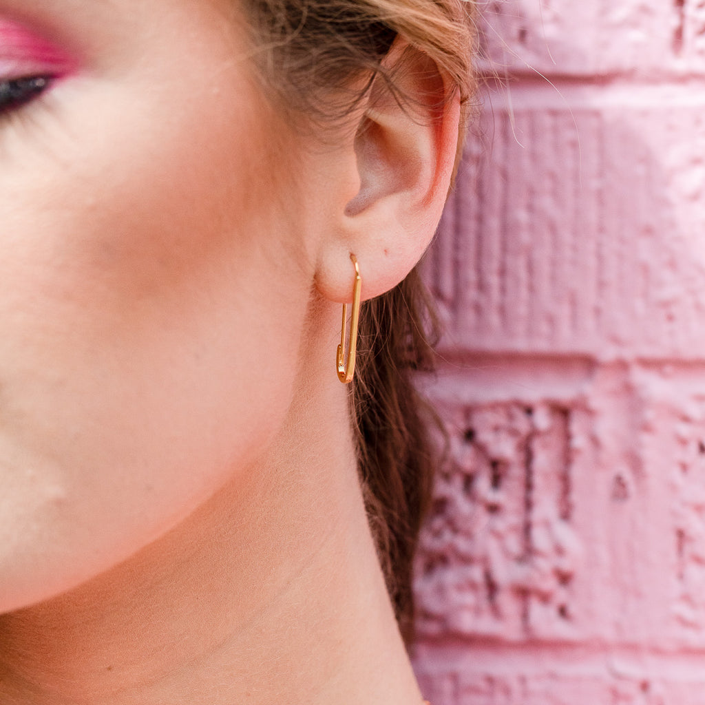 "The ""Pinned"" Safety Pin Earrings"