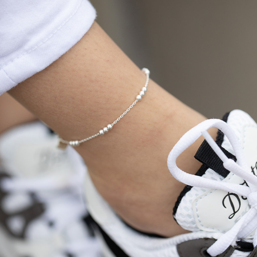 "The ""Twin Trifecta"" Matching Chain Anklet Set"