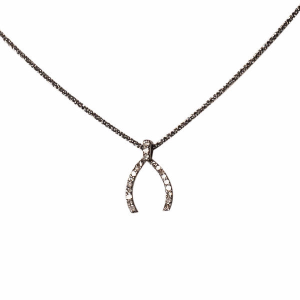 "The ""Lucky"" Pave Diamond Necklace"