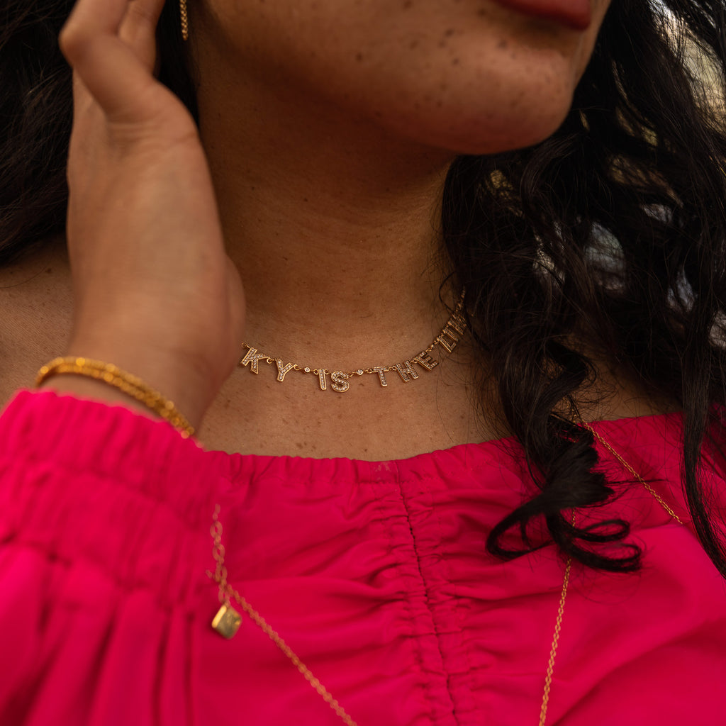 "The ""SKY IS THE LIMIT"" Pave Gold Necklace"