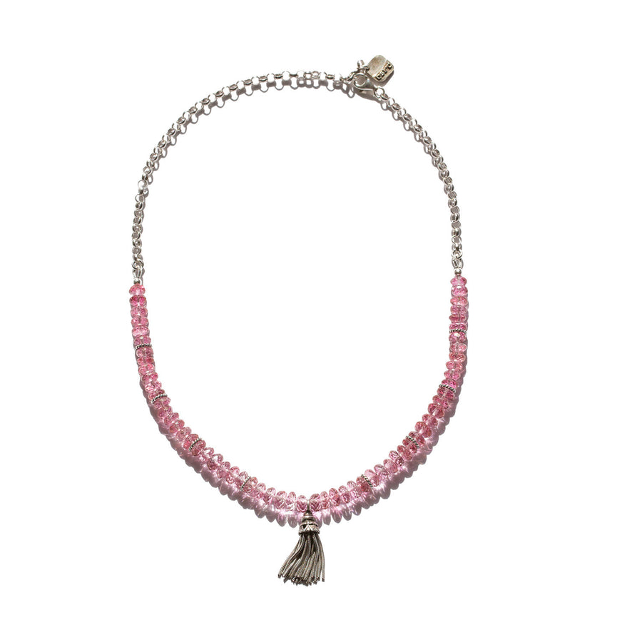 "The ""Hassles"" Pink Topaz Gemstone Necklace"