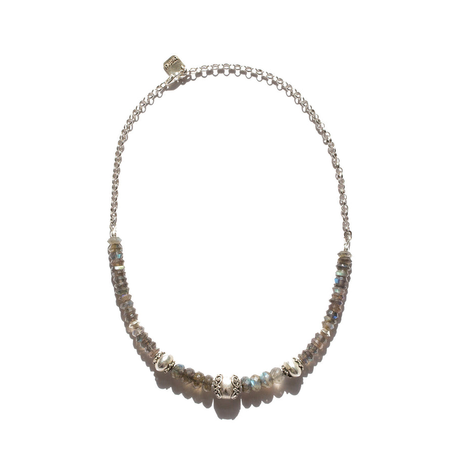 "The ""Ornate"" Labradorite Gemstone Necklace"