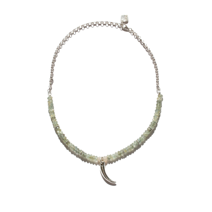 "The ""Ivory"" Moss Aquamarine Necklace"