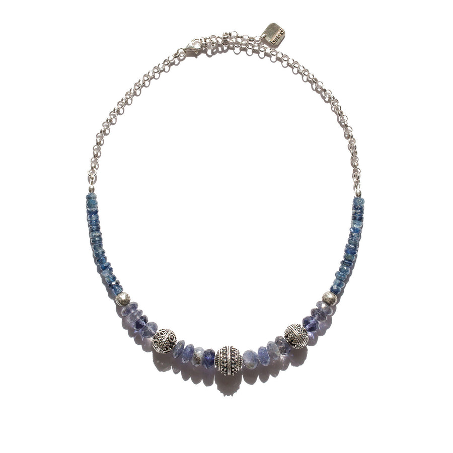 "The ""Lite"" Iolite/Kyanite Necklace"