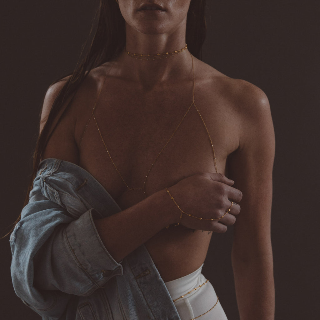 "The ""Satellite"" Chain Bralette"
