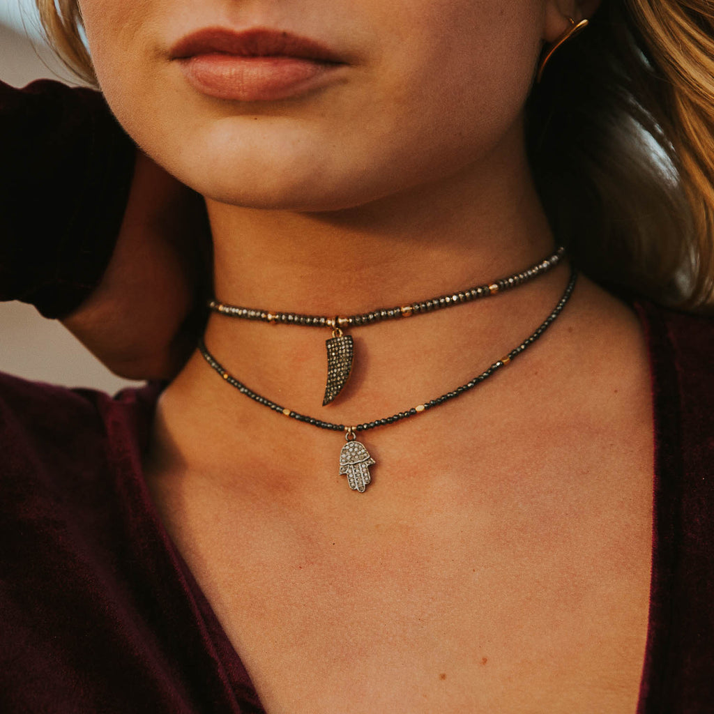 "The ""Lookin' For A Handout"" Pave Diamond Choker"